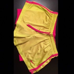 NIKE PRO PINK💖 AND YELLOW✨SHORTS